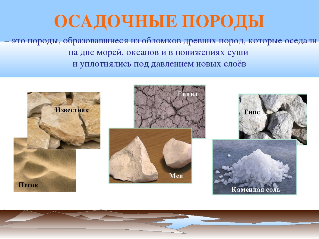 – это породы, образовавшиеся из обломков древних пород, которые оседали на д...