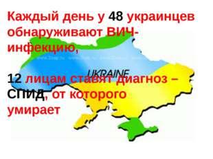 Каждый день у 48 украинцев обнаруживают ВИЧ-инфекцию, 12 лицам ставят диагноз