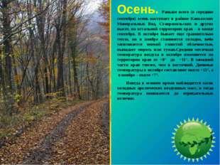 Осень. Раньше всего (в середине сентября) осень наступает в районе Кавказских