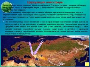 Циркуляция атмосферы Часто в зимнее время приходит арктический воздух. В перв