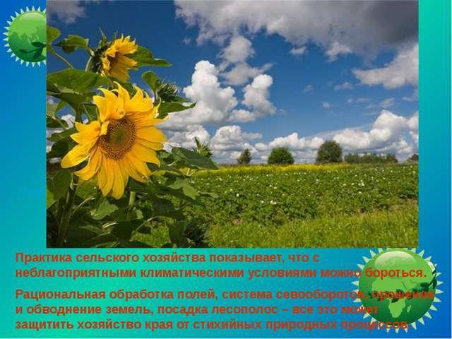 Практика сельского хозяйства показывает, что с неблагоприятными климатически...