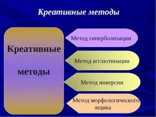 Метод гиперболизации Метод морфологического ящика Креативные методы
