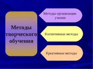 Методы организации учения Когнитивные методы Креативные методы
