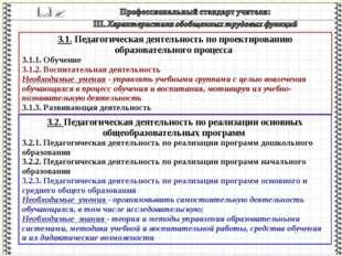 3.1. Педагогическая деятельность по проектированию образовательного процесса
