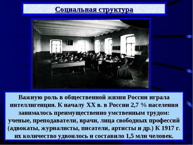 Важную роль в общественной жизни России играла интеллигенция. К началу XX в....