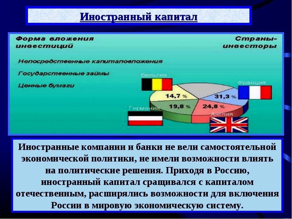 Иностранный капитал Активное привлечение иностранного капитала не привело к с...