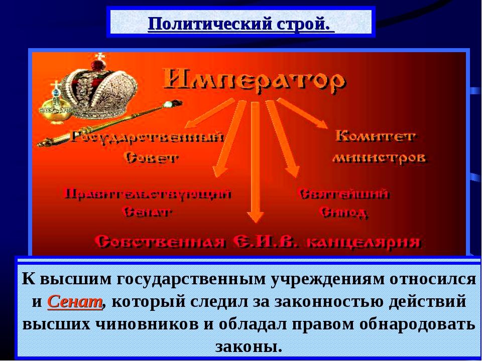 Политический строй. Российская империя оставалась самодержавной монархией. В...