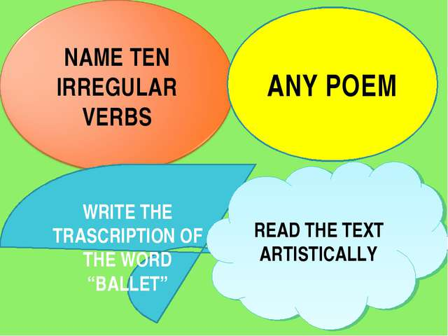 "ANY POEM WRITE THE TRASCRIPTION OF THE WORD ""BALLET"" READ THE TEXT ARTISTICALLY"