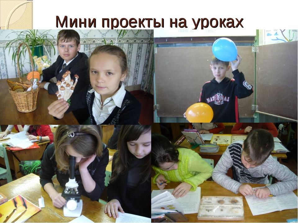 Мини проекты на уроках