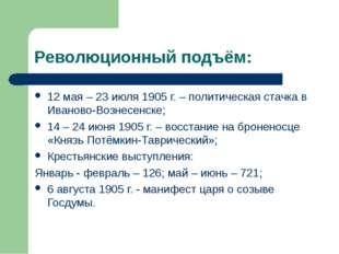 Революционный подъём: 12 мая – 23 июля 1905 г. – политическая стачка в Иванов