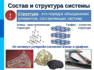 Состав и структура системы Структура - это порядок объединения элементов, сос