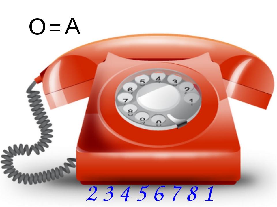 A A = O 2 3 4 5 6 7 8 1