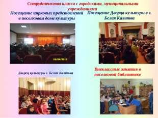 Посещение Дворца культуры в г. Белая Калитва Сотрудничество класса с городски