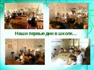 Наши первые дни в школе…