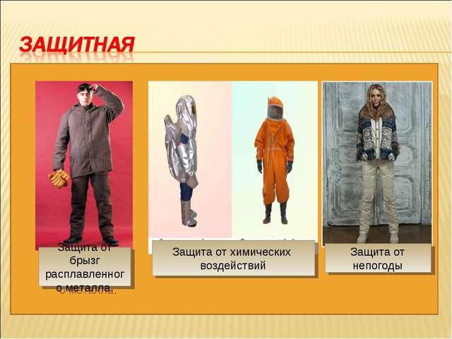 Защита от непогоды Защита от химических воздействий Защита от брызг расплавле...