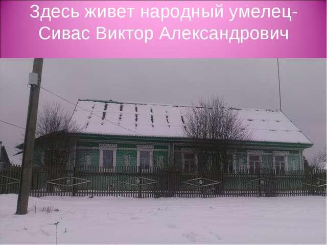 Здесь живет народный умелец-Сивас Виктор Александрович