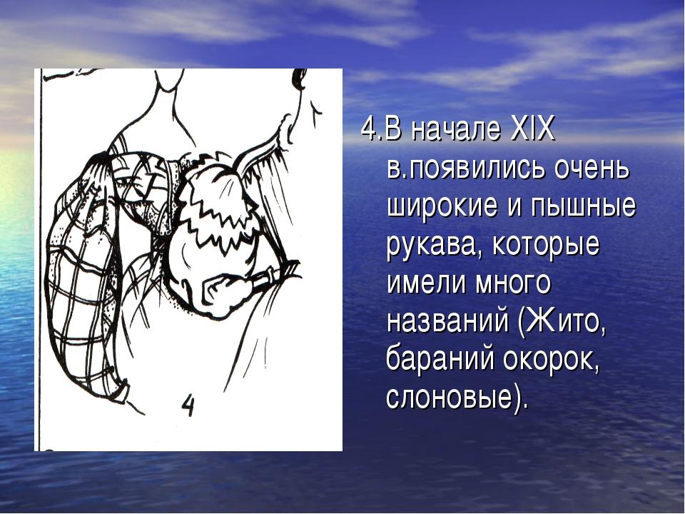4.В начале XIX в.появились очень широкие и пышные рукава, которые имели много...