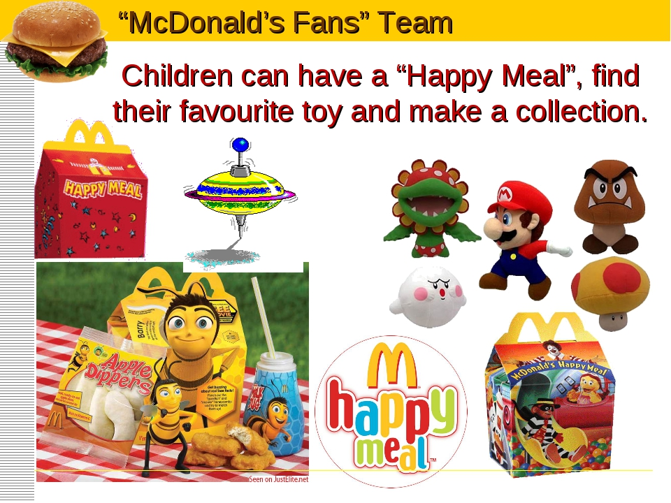 """Children can have a """"Happy Meal"""", find their favourite toy and make a collect..."""