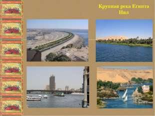 Крупная река Египта Нил