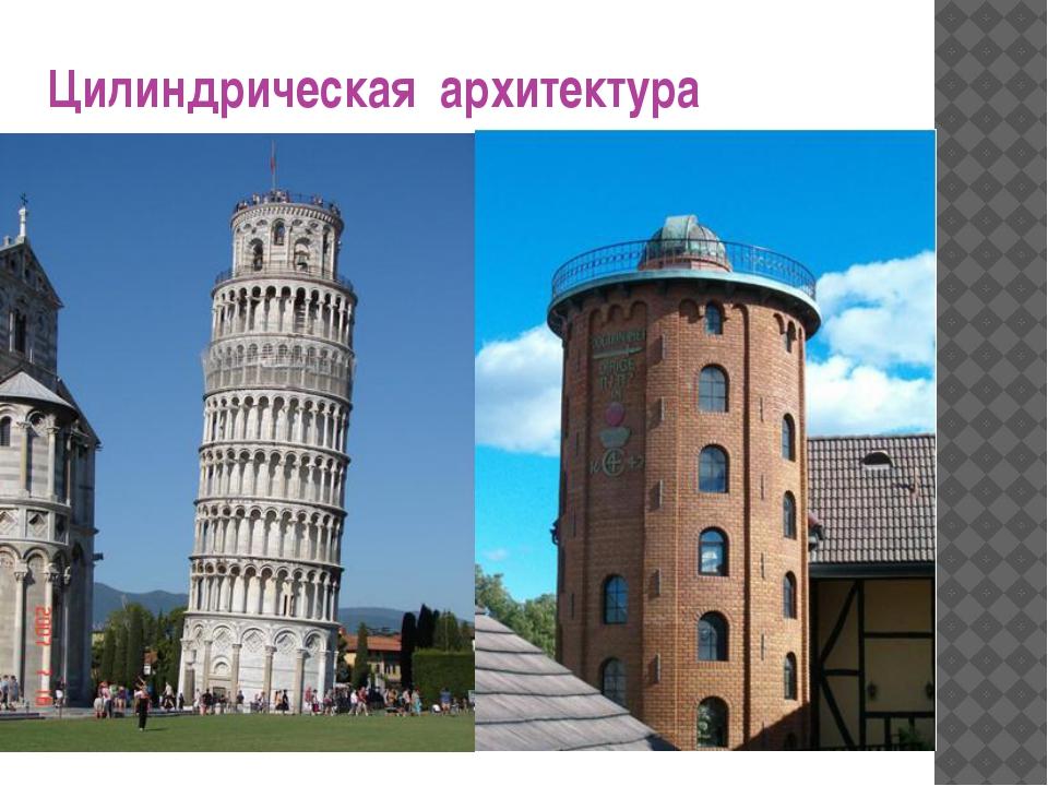 Цилиндрическая архитектура В нашей жизни много предметов и сооружений окружаю...