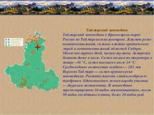 Таймырский заповедник Таймырский заповедник в Красноярском крае России на Тай
