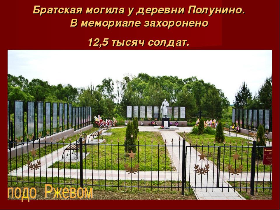 Братская могила у деревни Полунино. В мемориале захоронено 12,5 тысяч солдат.