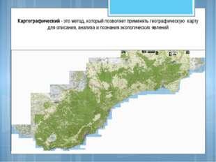 Картографический - это метод, который позволяет применять географическую карт
