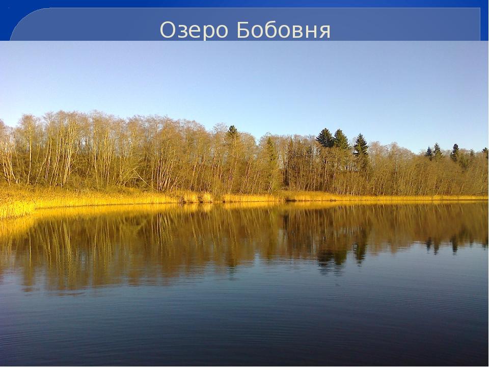 Озеро Бобовня