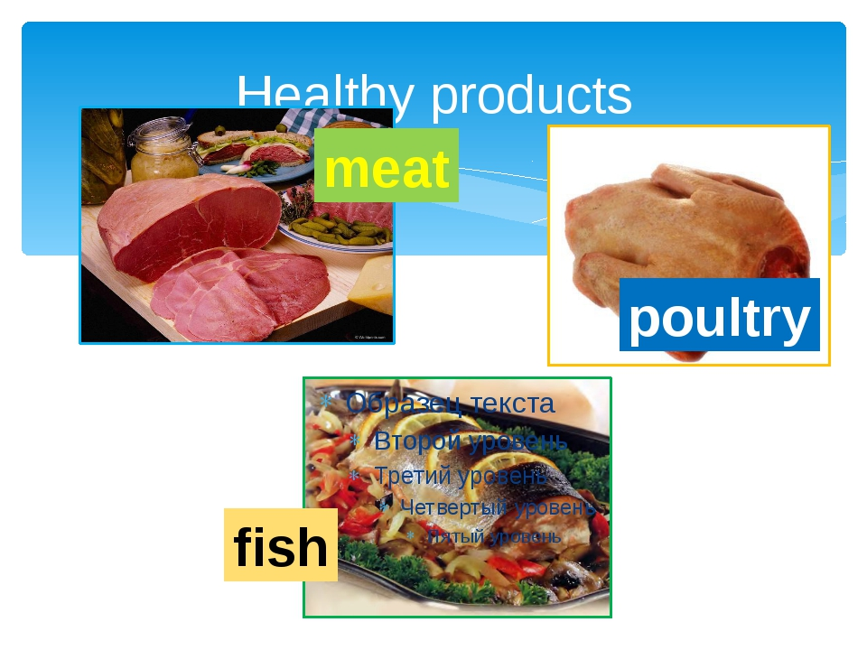 Healthy products meat poultry fish