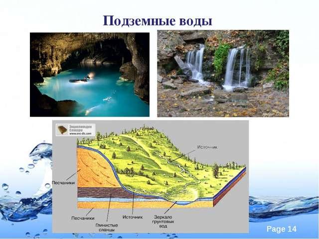 Подземные воды Page
