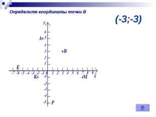 (-3;-3) Определите координаты точки В