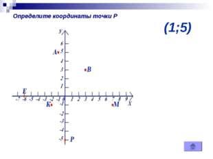 (1;5) Определите координаты точки Р