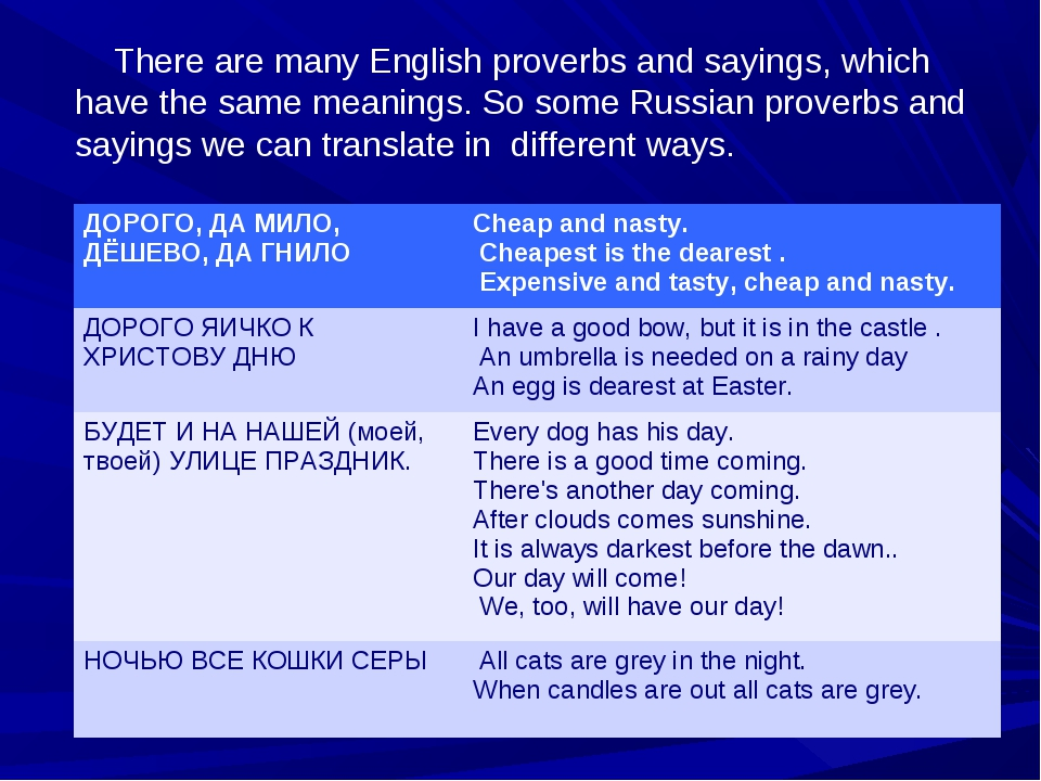 There are many English proverbs and sayings, which have the same meanings. S...