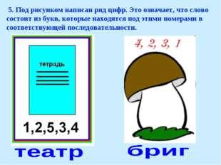 5. Под рисунком написан ряд цифр. Это означает, что слово состоит из букв, к