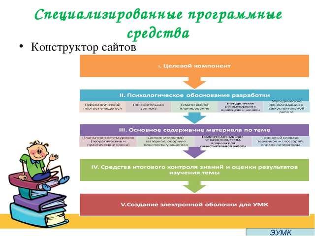 Специализированные программные средства Конструктор сайтов ЭУМК