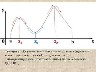 Значения функции в точках максимума или минимума функции называются экстремум