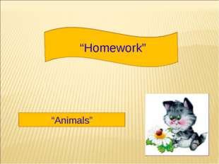 """Homework"" ""Animals"""