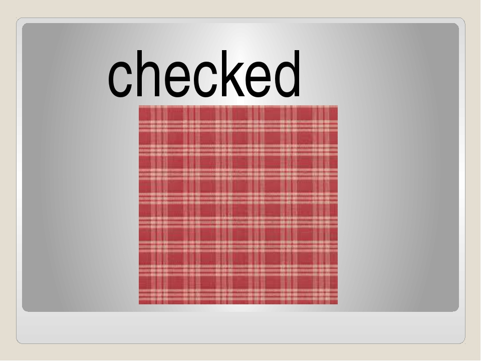 checked