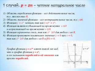 Область определения функции – все действительные числа, т.е. множество R. 2)
