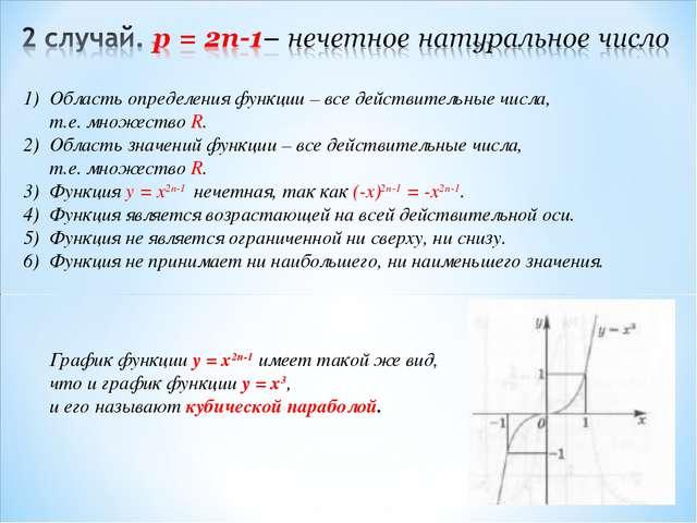 Область определения функции – все действительные числа, т.е. множество R. 2)...