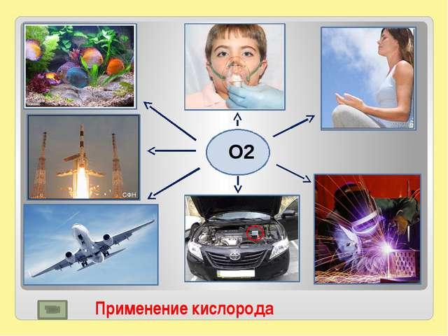 Применение кислорода О2