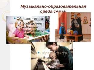 Музыкально-образовательная среда семьи