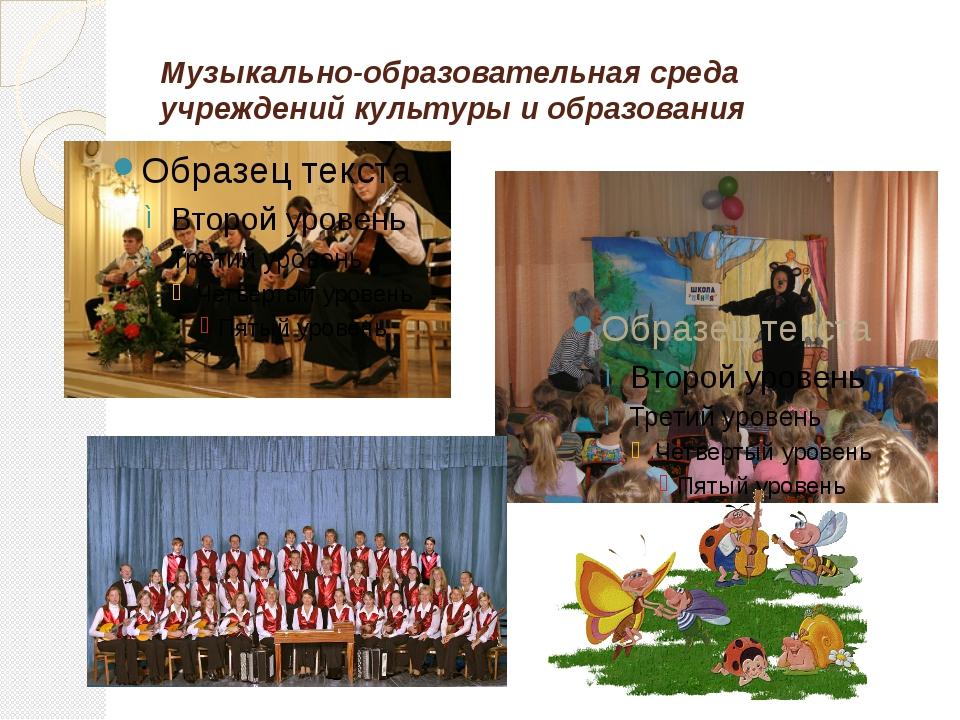 Музыкально-образовательная среда учреждений культуры и образования