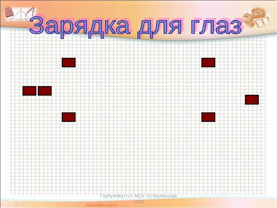 Горбунова Н.И. МОУ Остроленская СОШ Горбунова Н.И. МОУ Остроленская СОШ