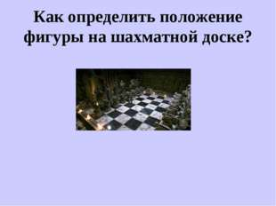 Как определить положение фигуры на шахматной доске?
