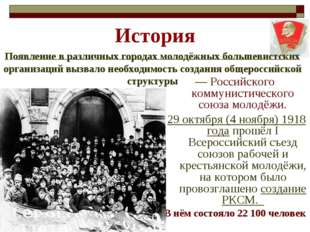 История — Российского коммунистического союза молодёжи. 29 октября (4 ноября)