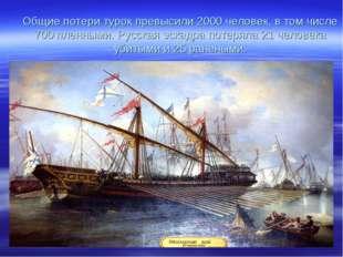 Общие потери турок превысили 2000 человек, в том числе 700 пленными. Русская