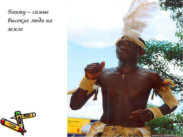 Банту – самые высокие люди на земле
