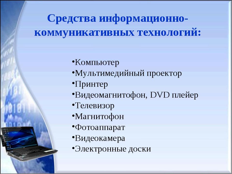 Компьютер Мультимедийный проектор Принтер Видеомагнитофон, DVD плейер Телевиз...