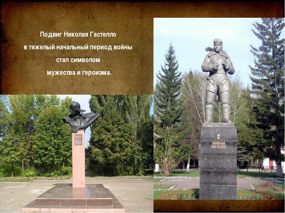 Подвиг Николая Гастелло втяжелый начальный период войны стал символом мужес...
